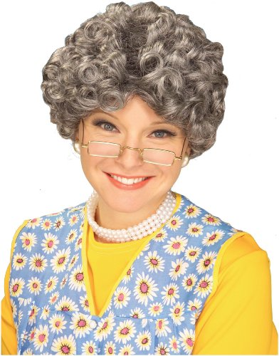 Franco-american Novelty Co Unisex Adult Mom Wig - Grey