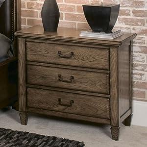 American drew americana home drawer nightstand in warm khaki oak natural wood for American drew oak bedroom furniture