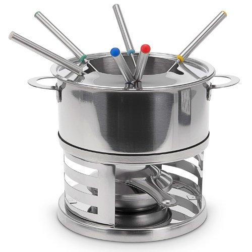 Cuisine conviviale relaxdays service fondue 9 pi ces inox for Appareil cuisine conviviale