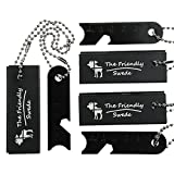 [3 PACK] Magnesium Fire Starter - with Extra Long Chains and Strikers - Light Weight and Pocket Size - for Hiking and Other Outdoor Activities - A Must Have for the Survivalist Prepper - EDC Emergency Survival Essentials in Retail Packaging - Lifetime Warranty