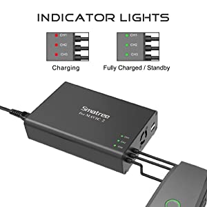 Smatree Mavic 2 Pro Battery Charger, 5 in1 Rapid Smart Battery Charger Hub (Charge 3 Batteries & 2 USB Ports Simultaneously) with 180W Rapid Battery Power Adapter Compatible with DJI Mavic 2 Pro/Zoom (Tamaño: Mavic 2 pro/zoom)