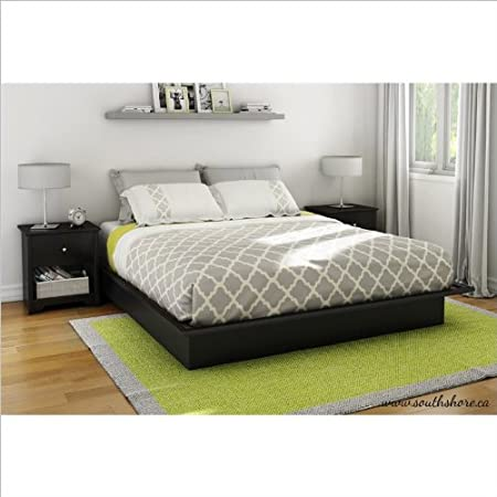 South Shore Libra King 3 Piece Bedroom Set in Pure Black