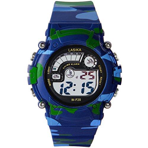Hiwatch TM wasserdicht 30M Outdoor Digitaluhr Armbanduhr mit Alarm WOODLAND CAMO für Jungen Mädchen Kindergeschenk