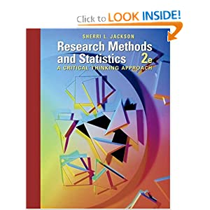 Research Methods and Statistics: A Critical Thinking Approach  by Sherri L. Jackson
