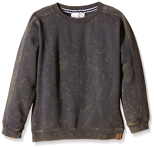 NAME IT Nitlars Kids Ls Loose Fit Sweat Lmtd 515-Felpa Bambino    Grigio (Dark Shadow) 122 cm