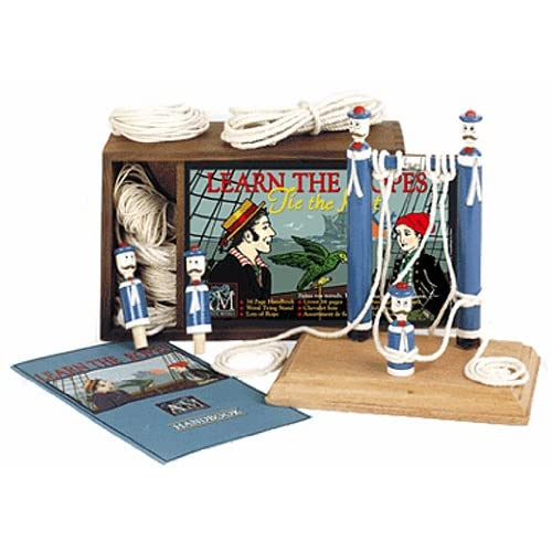 LEARN THE ROPES: TIE THE KNOT KIT [ Wooden Box Includes: Handbook