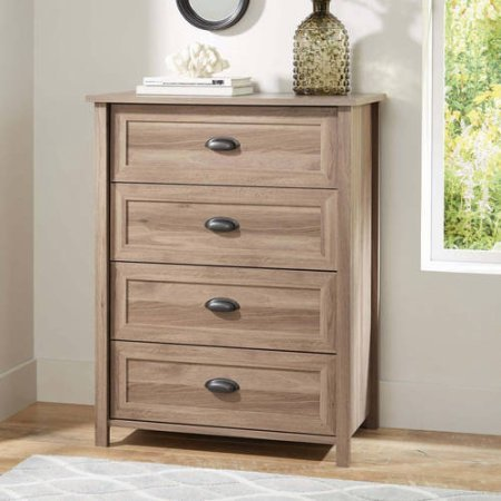 Better Homes and Gardens Lafayette 4-Drawer Chest - Washed Oak Finish (Real Wood Dresser compare prices)