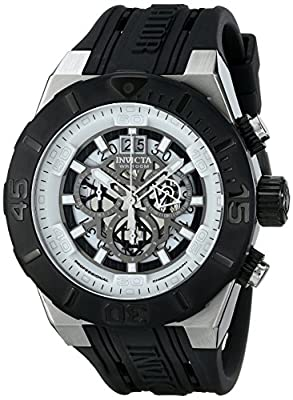 "Invicta Men's 15890SYB ""Aviator"" Stainless Steel Watch With Black Band"