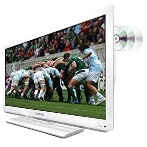 """Toshiba 22DL834B 22"""" HD LED TV with Built-In DVD Player, USB Playback & Freeview Tuner in White"""