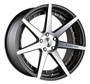 19″ Vertini Dynasty 19×8.5 19×9.5 Gunmetal Machined Face Genesis Coupe 5×114
