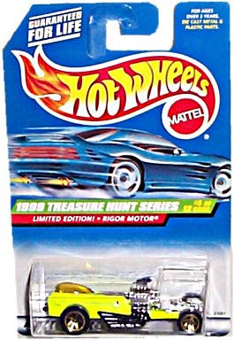 Hot Wheels - Mattel Wheels - Limited Edition Treasure Hunt Series (1999) - Rigor Motor (Lime Green) - #4 of 12 - Collector #932 - 1