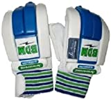 BDM Armstrong Batting Gloves, Youth (White/Blue)
