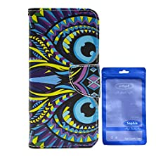 buy Sophia Shop, Htc One M9 Case, Stand Flip Wallet Case,Premium Pu Leather Outer Skin And Soft Tpu Inner Cover With Credit Card Slot And Cash Compartment For Htc One M9 (Eyes Of Owl)