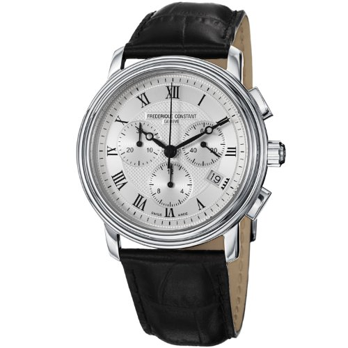 Frederique Constant Men's FC292MC4P6 Persuasion Black Strap Chronograph Watch image