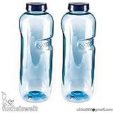Trinkflasche 2 x 1L Wasserflasche ausTritan (BPA frei) Flasche
