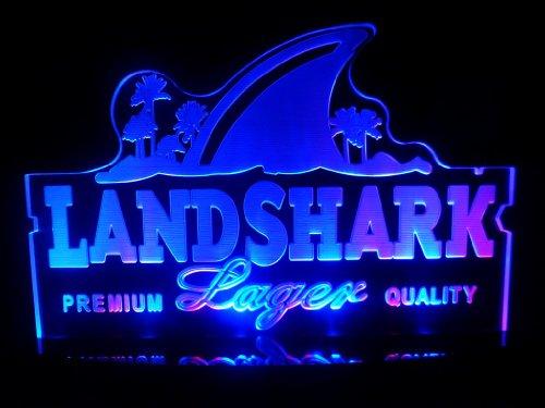 Advertising Land Shark Lager Logo Led Desk Lamp Night Light Beer Bar Bedroom Game Room Signs front-460272