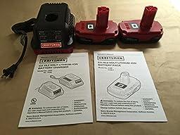 2 Craftsman 19.2 Volt Lithium Ion Batteries & 1 Charger
