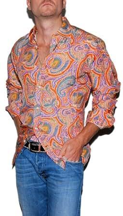 Polo ralph lauren purple label mens paisley silk shirt for Mens silk shirts amazon