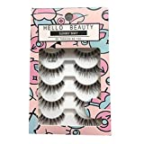 HELLO BEAUTY Multipack Demi Wispies Fake Eyelashes (Color: Black, Tamaño: 120)