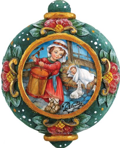 G. Debrekht Drummer Boy Ornament, 4.5-Inch TREASURED MEMORIES COLLECTION