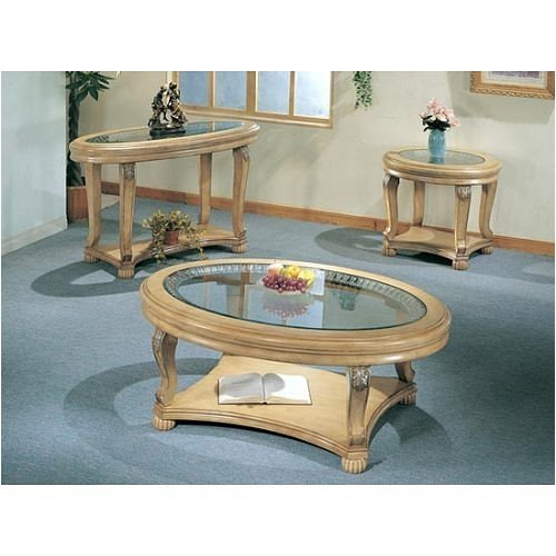 Buy Low Price BEAUTIFUL OVAL/ROUND TEMPERED GLASS CONSOLE SOFA TABLE (VF_AZ02-13934)