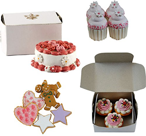 The Queen's Treasures American Bakery Collection Party Set. Collection Includes Cookies, Mini Cupcakes, Muffins, and a Party Cake. All Food Accessories Sized to Fit 18 Inch Girl Dolls. (Bakery Food compare prices)