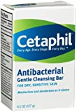 Cetaphil Gentle Cleansing Bar, Antibacterial - 4.5 oz