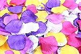 フラワーシャワー 造花 花びら 1200枚セット / ハピネス ウェディング ビューティフル パーティ 【 12バリエーションから選べます 】 (ハピネスブライト / レディッシュ パープル)