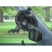 cretom [ クレトム ] 快適ドライブアイテム 車内用扇風機 12V専用 子供も大喜び! [ CRETOM ] GA-74