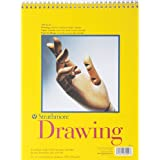 Strathmore 9-Inch by 12-Inch Spiral Drawing Notebook, 50-Sheet