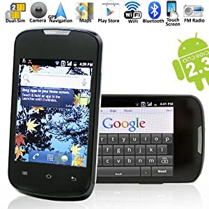 B601 - Android 2.3, Built-in GPS, Dual-SIM, GSM Quad-band, Touch Screen Unlocked Smart Phone