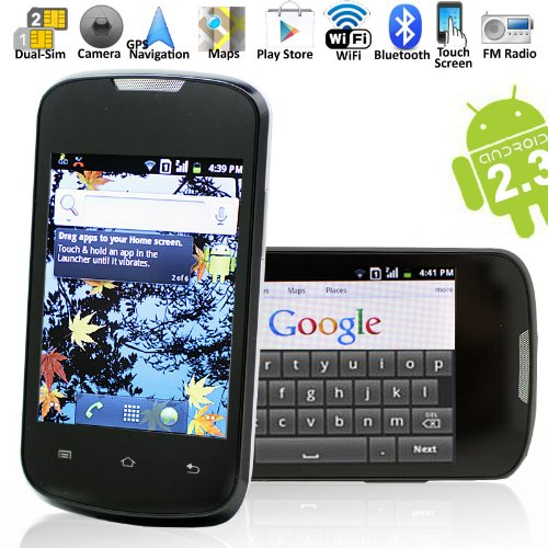 Link to B601 – Android 2.3, Built-in GPS, Dual-SIM, GSM Quad-band, Touch Screen Unlocked Smart Phone Promo Offer
