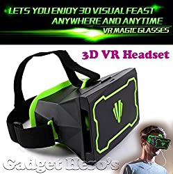 Gadget Hero'sTM Active 3D Virtual Reality Headset. Smartphone 3D VR Glasses. Inspired by Google Cardboard and Oculus Rift 3D VR Headset. For iPhone, Samsung, Blackberry & Other Android & Windows Phones.