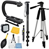 Adventurers-Professional-Exploration-kit-for-Canon-EOS-550D-EOS-Rebel-T2i-EOS-Kiss-X4-Bundle-Contains-72-Monopod-59-Tripod-Stablilizer-Grip-Plus-More