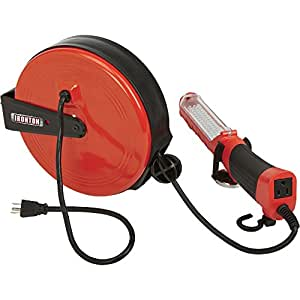 ironton retractable cord reel with worklight. Black Bedroom Furniture Sets. Home Design Ideas