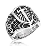 Bling Jewelry Celtic Medieval Cross Stainless Steel Mens Ring (more sizes)