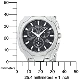 Citizen Men's AT0880-50E Eco-Drive Chronograph Stainless Steel Black Dial Watch