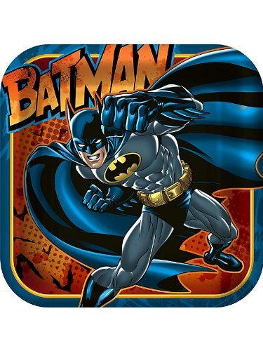 Hallmark Batman the Dark Knight Dessert Plates 8 Ct 7x7 in Square - 1