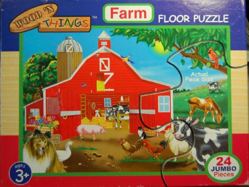 Cheap Fun Wood 'N Things Farm Floor Puzzle 24 Pcs 2×3 Feet (B002GK0GNI)