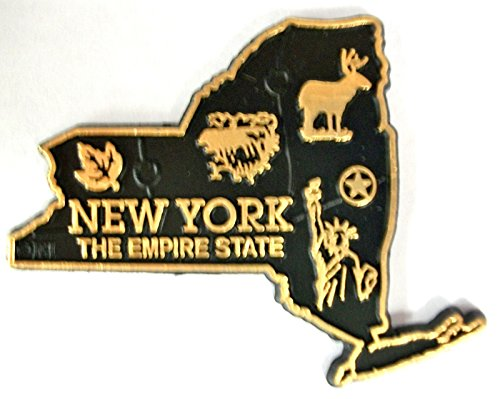 New York The Empire State Map Fridge Magnet (Fridge Magnet New York compare prices)