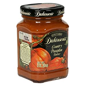 Dickinson's Fruit Butters, Country Pumpkin, 9-Ounce Jars (Pack of 6)