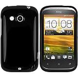 mumbi TPU Silikon Schutzhülle für HTC Desire C Hülle schwarz