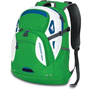 High Sierra Scrimmage Backpack, Kelly Green, 19.25x13.5x9.25-Inch
