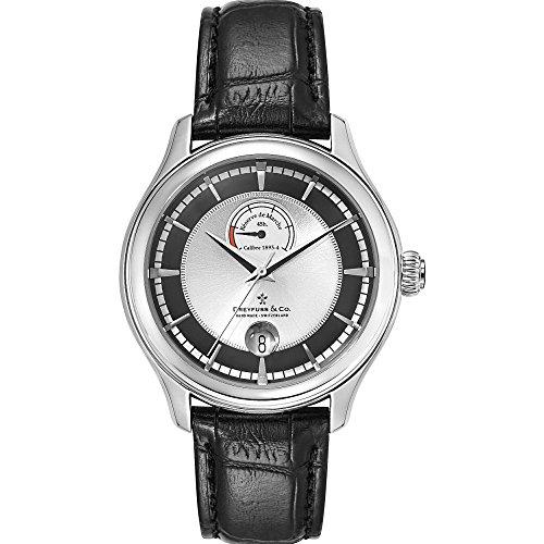 Dreyfuss 1925 DGS00110/04 Stainless Steel Case Black Calfskin Mineral Men's Watch
