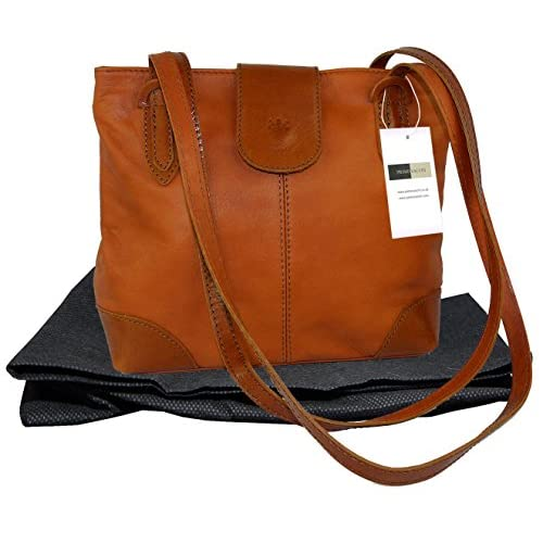 Genuine Italian Soft Leather, Unstructured Long Handled Hand Bag or Shoulder Bag. Includes a Protective Dust Bag.
