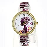Suppion Ladies' Stuning Fashion Jewelry Quartz Women Diamond Ceramic Strap Watches Wristwatch White thumbnail