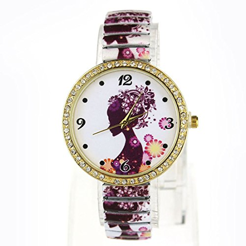 Suppion Ladies' Stuning Fashion Jewelry Quartz Women Diamond Ceramic Strap Watches Wristwatch White image