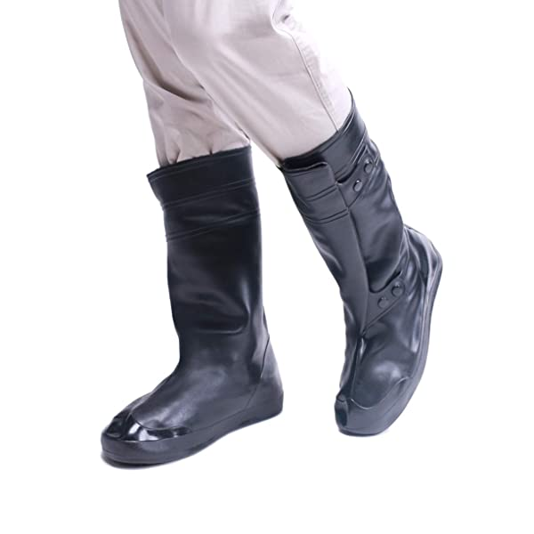 Vxar Shoes Covers Rain Snow Boots Waterproof Reusable Foldable Thicken Sole Over