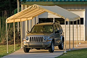 ShelterLogic 12 x 26- Feet Canopy 2- Inch 5-Rib Frame, Tan Cover by ShelterLogic