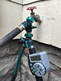 Garden Hose Splitter | Arthritis Friendly Hose to Hose Connector. A Free Add-On: 3 Rubber Washers + 1 Year of Full Guarantee. Enjoy!